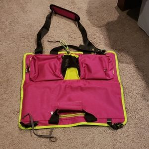 Multi pocketed yoga travel bag